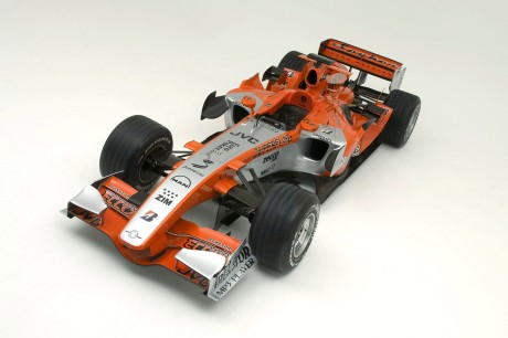 The new livery on the Spyker MF1