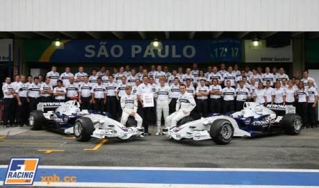 BMW Sauber team photoshoot