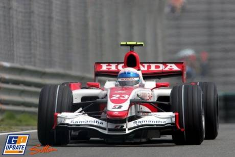 Anthony Davidson in the Super Aguri