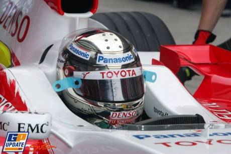 Jarno Trulli in the Toyota