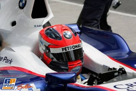 Robert Kubica in the BMW Sauber