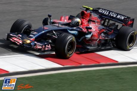 Sebastien Vettel in his Scuderia ToroRosso