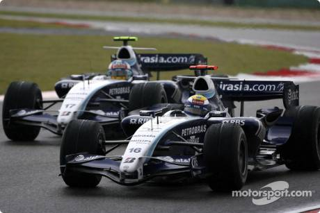 Nico Rosberg, WilliamsF1 Team, Alexander Wurz, Williams F1 Team