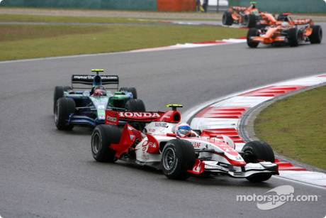 Anthony Davidson, Super Aguri F1 Team, Rubens Barrichello, Honda Racing F1 Team