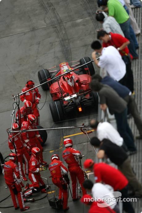 Felipe Massa, Scuderia Ferrari, F2007,pitstop