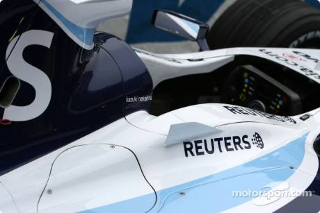 The car of Kazuki Nakajima, Williams F1 Team