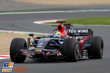 Sebastien Bourdais in the Scuderia Toro Rosso