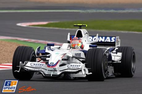 Robert Kubica in the BMW Sauber F1