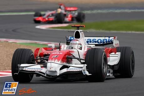 Jarno Trulli in the Toyota