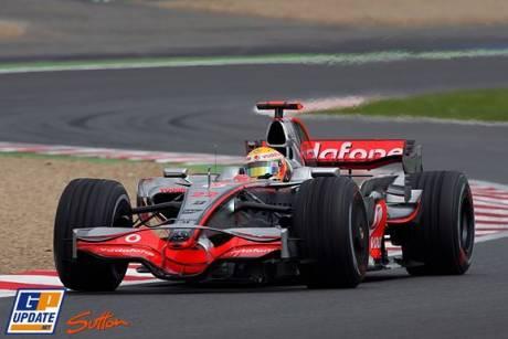 Lewis Hamilton in the McLaren