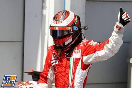 The man on pole; Kimi Raikkonen (Scuderia Ferrari)