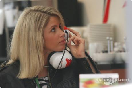 Girlfriend of Timo Glock (Toyota F1 Team)