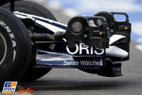 A detail of the front wing of the altered Williams