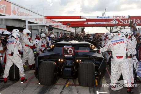 Toyota F1 Team with the Batmobile