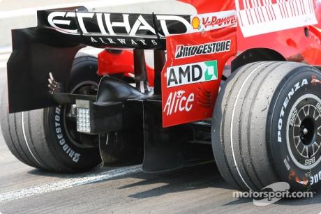 Diffuser Feature, Scuderia Ferrari (F2008)