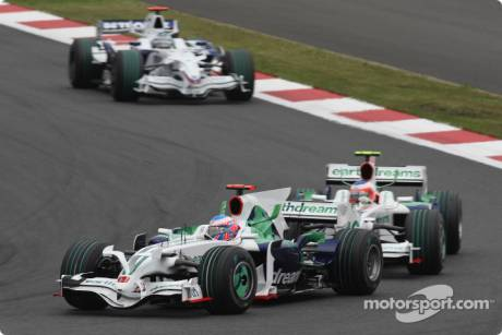 Jenson Button and Rubens Barrichello, Honda Racing F1 Team (RA108)