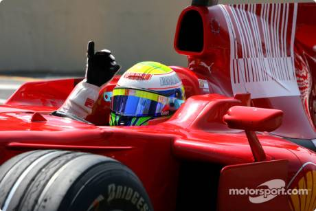 Pole Winner, Felipe Massa (Scuderia Ferrari, F2008) celebrates