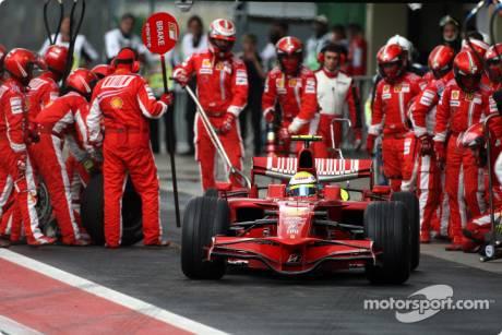 Pitstop, Felipe Massa (Scuderia Ferrari, F2008)