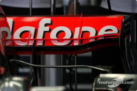 McLaren Mercedes, new McLaren Mercedes rear wing
