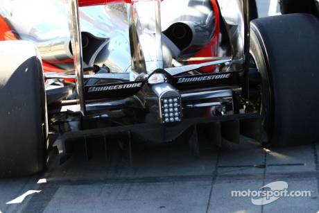 Diffuser of the McLaren Mercedes, MP4-24