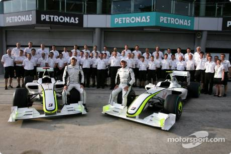 Brawn GP F1 Team Group Picture