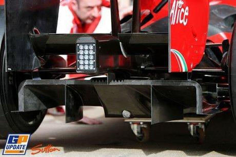 Scuderia Ferrari, F60, New Diffuser