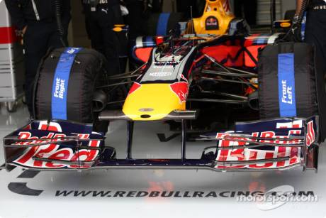The new Front Wing of Red Bull Racing, RB5