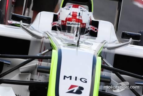 Jenson Button (Brawn GP F1 Team) with a new Helmet