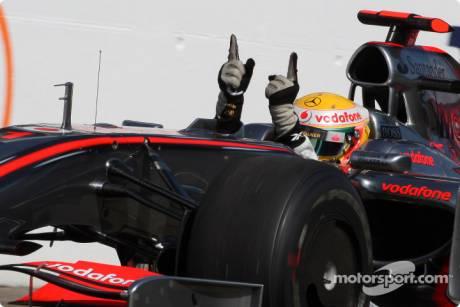 Race winner Lewis Hamilton, McLaren Mercedes, MP4-24