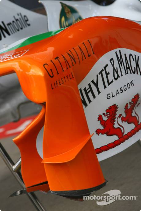 Force India F1 Team body work detail