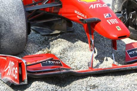 Giancarlo Fisichella, Scuderia Ferrari, F60, Crashes
