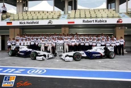 BMW Sauber F1 Team, Group Picture, F1.09, Nick Heidfeld, Robert Kubica