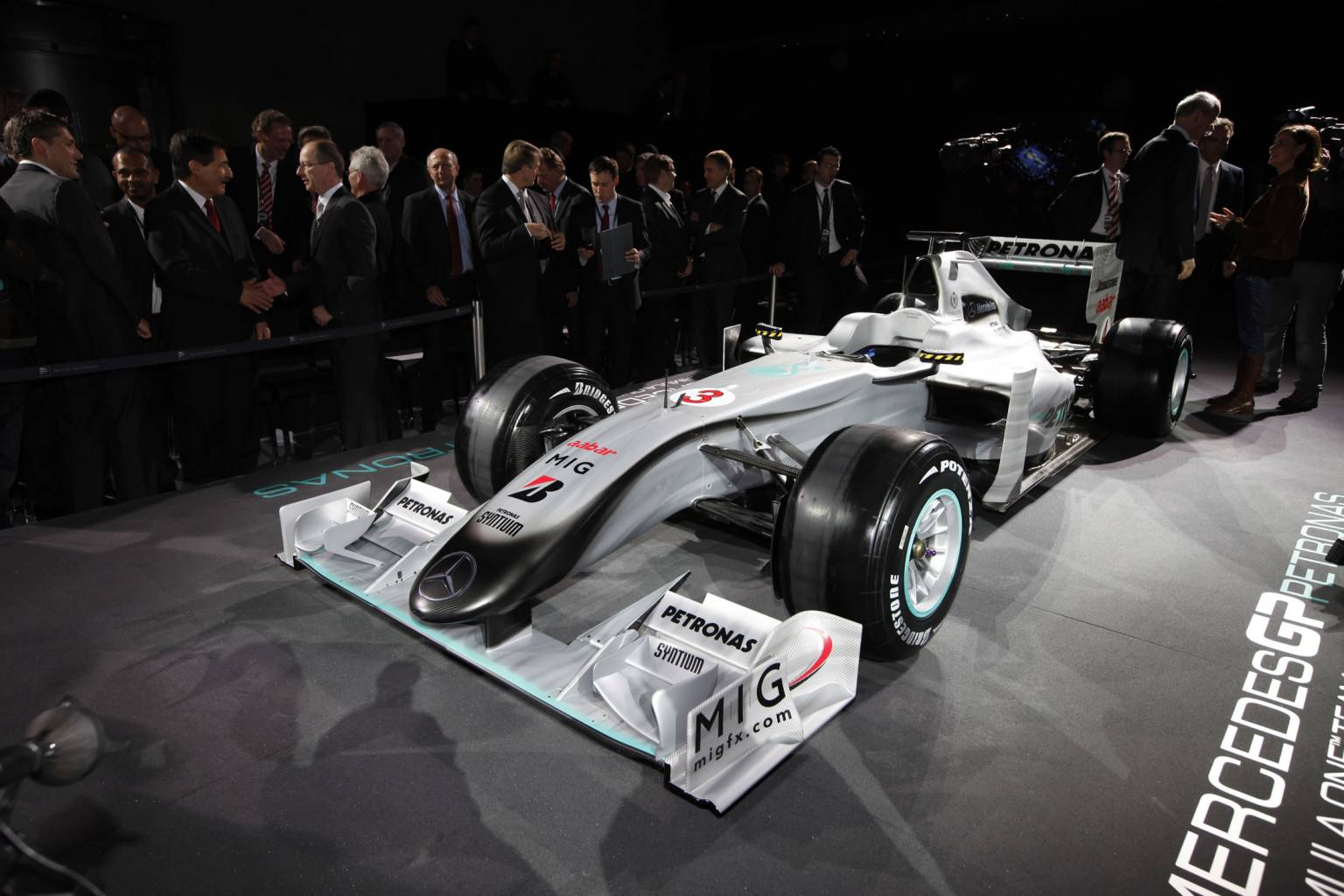 the Mercedes GP MGP W01 :