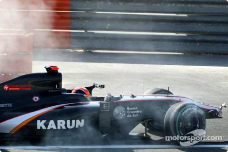 Karun Chandhok, Hispania Racing F1 Team, Crashes