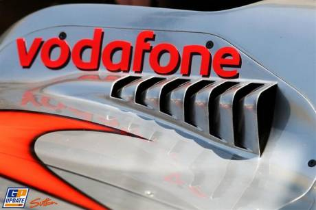 Close Up of Vodafone McLaren Mercedes MP4-25
