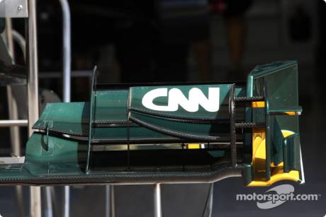CNN on the front wing of the Lotus T127
