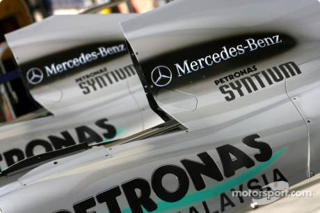 Mercedes GP F1 Team Engine Cover detail