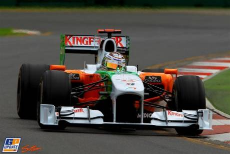 Force India F1 Team, Adrian Sutil, VJM03