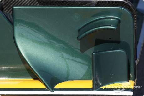 Lotus F1 Team, T127, Front Wing Detail