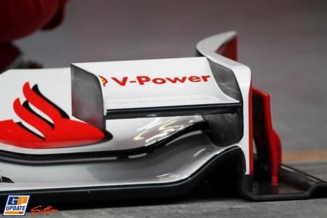Front Wing Detail of Scuderia Ferrari, F10