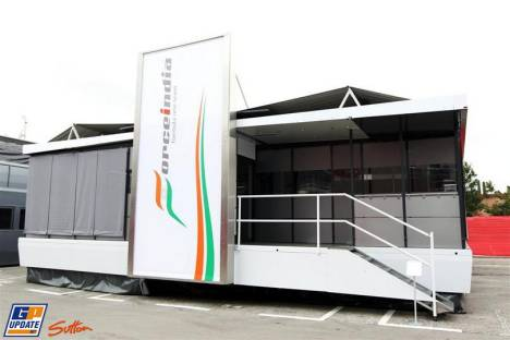 The Motorhome for Force India F1 Team