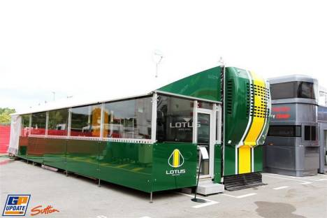 The Motorhome for Lotus F1 Team