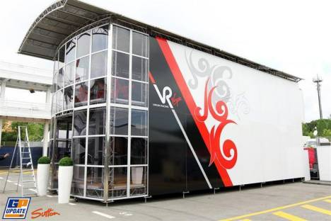 The Motorhome for Virgin Racing