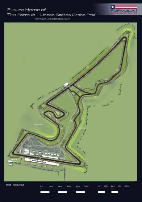 Draft Track Layout of the Austin Circuit
