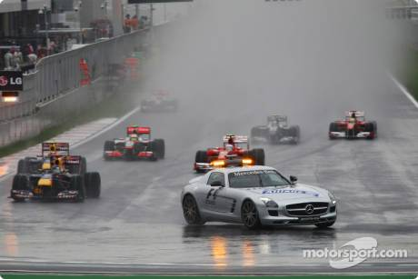 The Start Of The Race Under The Safety Car