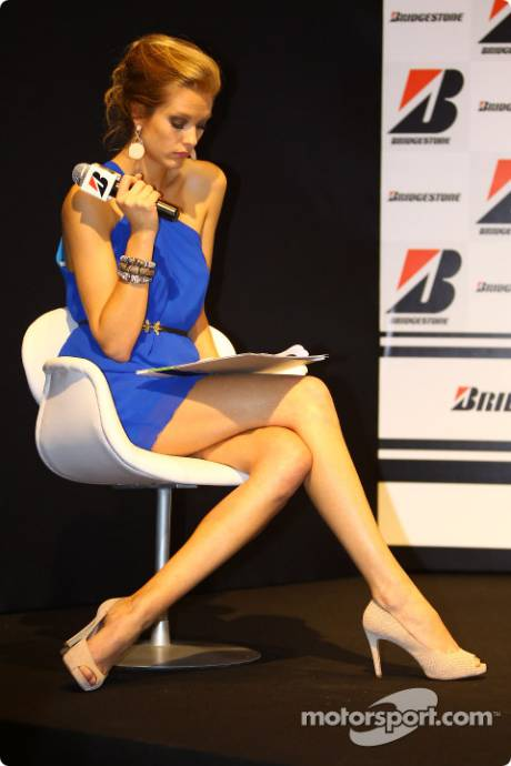 Girl during the Bridgestone conference