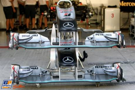 Mercedes GP F1 Team, MGP W01, Front Wings
