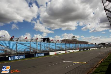 The Starting Grid on Melbourne Grand Prix Circuit