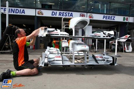 Nosecones of the Force India VJM04