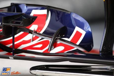 Detail of front wing Red Bull RB7